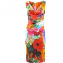 Talbot Runhof Orange Pink Multi Dress Vodice12