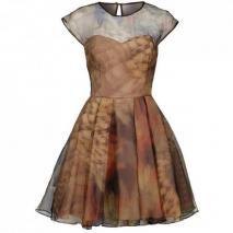 Ted Baker Bardoe Cocktailkleid / festliches Kleid taupe