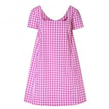 Thierry Colson Iris Kleid Pink-Weiß