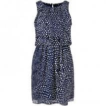 Tibi Seidenkleid Blau-Weiß