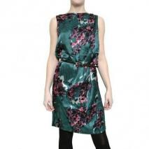 Twenty8Twelve Fleuron Druck Satin Kleid