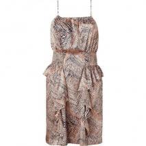 Twenty8twelve Opal/Black Printed Ruffle Dress