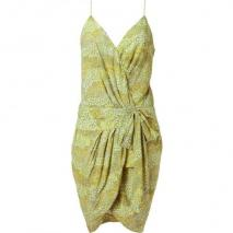 Twenty8twelve Silver Lemon Printed Draped Dress