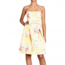 Valentino Braces floral print bow dress