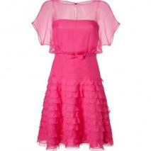Valentino Fuchsia Belted Silk Dress