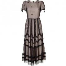 Valentino R.E.D. Black Bow Embellished Maxi Dress
