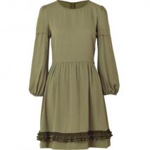 Valentino R.E.D. Pistachio Ruffle Trim Dress