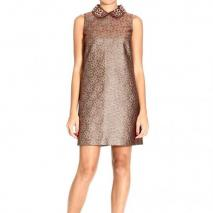 Valentino Sleeveless brocade lurex embroideries neck dress