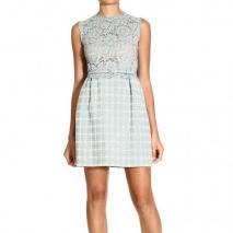 Valentino Sleeveless wool lace dress