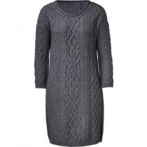 Vanessa Bruno Athé Anthracite Heather Cable-Knit Mini-Dress