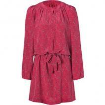 Vanessa Bruno Athé Ruby Red Printed Silk Dress