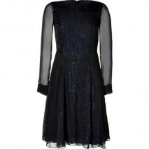 Vanessa Bruno Black Embellished Silk Dress