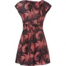 Vanessa Bruno Black Floral Printed Open-Back Silk Dress