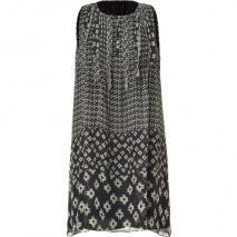 Vanessa Bruno Black Printed Silk Dress