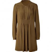 Vanessa Bruno Goldolive Pleated Silk Dress