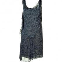 Vanessa Bruno Nightblue Print Silk Dress