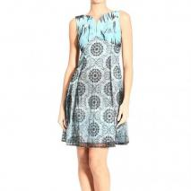 Versace Braces v neck jersey double lace print dress