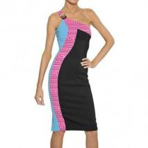 Versace Laser Cut Kleid Aus Viskosecady