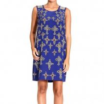 Versace Sleeveless write print metal dress