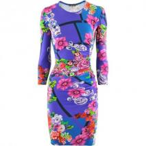 Versace Viola Multi Print Dress