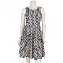 Warehouse Kleid Daisy Print Blau