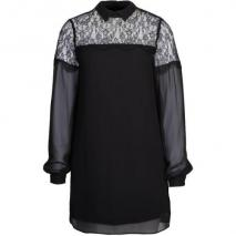 Warehouse Lace Yoke Tunic Cocktailkleid / festliches Kleid schwarz