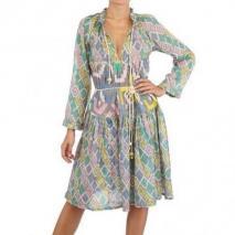 Yvonne S Bedrucktes Baumwoll Gauze Kleid Mehrfarbig